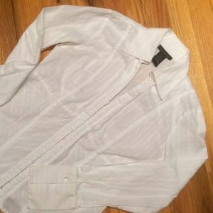 The Limited White Blouse - Size Small